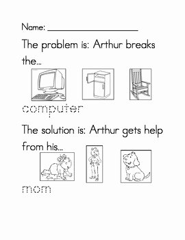 Problem and solution Worksheet Luxury Kindergarten Arthur Worksheet Kindergarten Best Free
