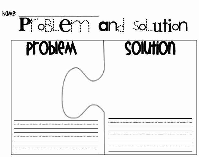 Problem and solution Worksheet Luxury Problem and solution Puzzle Pieces Techniques for