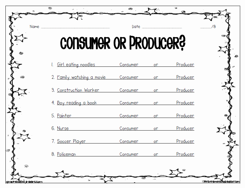 Producers and Consumers Worksheet Best Of Mrs Brinkman S Blog social Stu S Economics