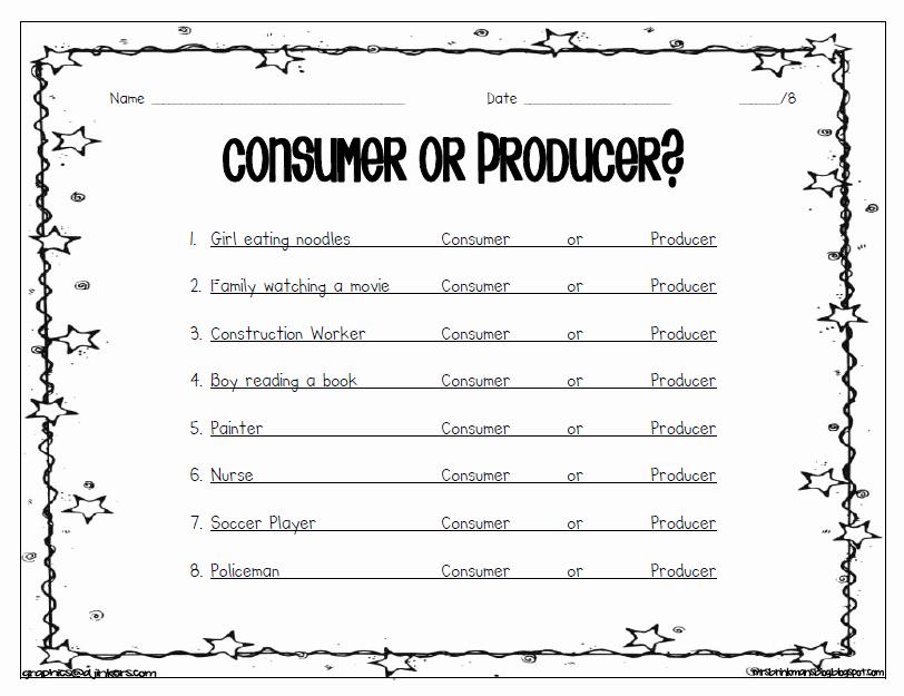 Producers and Consumers Worksheet Best Of Mrs Brinkman S Blog social Stu S Economics