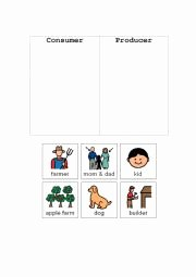 Producers and Consumers Worksheet Fresh English Worksheets Consumer and Producer sort