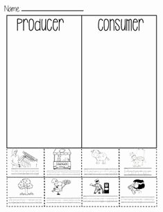 Producers and Consumers Worksheet Lovely Consumer or Producer sort Sheet Economics First Grade