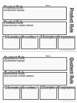 Product and Quotient Rule Worksheet Awesome Discovering Laws Of Exponents Inquiry Activity Product
