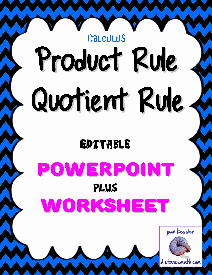 Product and Quotient Rule Worksheet Beautiful Calculus Derivatives Product Rule Quotient Rule Powerpoint