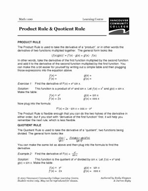 Product and Quotient Rule Worksheet Beautiful Calculus Mathematics and Calculus Libguides at