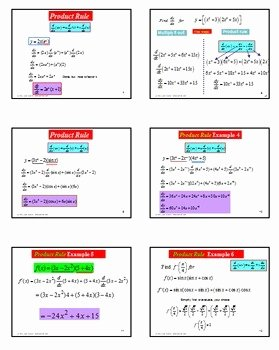 Product and Quotient Rule Worksheet Best Of Calculus Derivatives Product Rule Quotient Rule Powerpoint