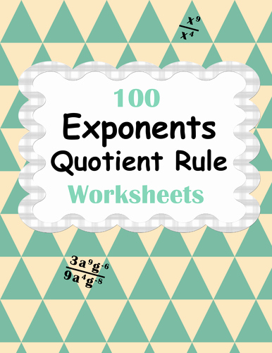 Product and Quotient Rule Worksheet Best Of Exponents Worksheets Bundle Product Power & Quotient