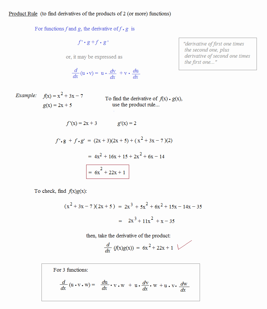 Product and Quotient Rule Worksheet Elegant Math Plane Mon Derivative Rules Product Quotient
