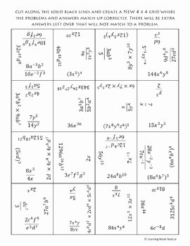 Product and Quotient Rule Worksheet Lovely Exponent Rule Bundle Power Product Quotient Negative