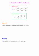 Product and Quotient Rule Worksheet Luxury Product and Quotient Rules by Srwhitehouse