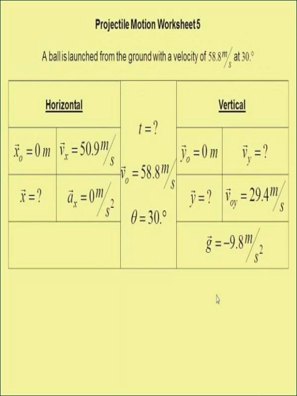 Projectile Motion Worksheet Answers Best Of Projectile Motion Worksheet Answers