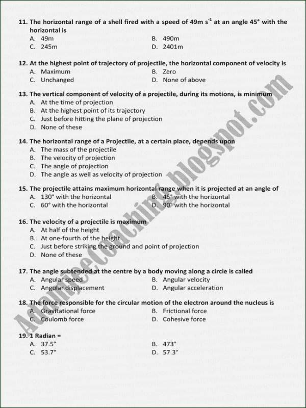 Projectile Motion Worksheet Answers Unique Projectile Motion Worksheet Answers