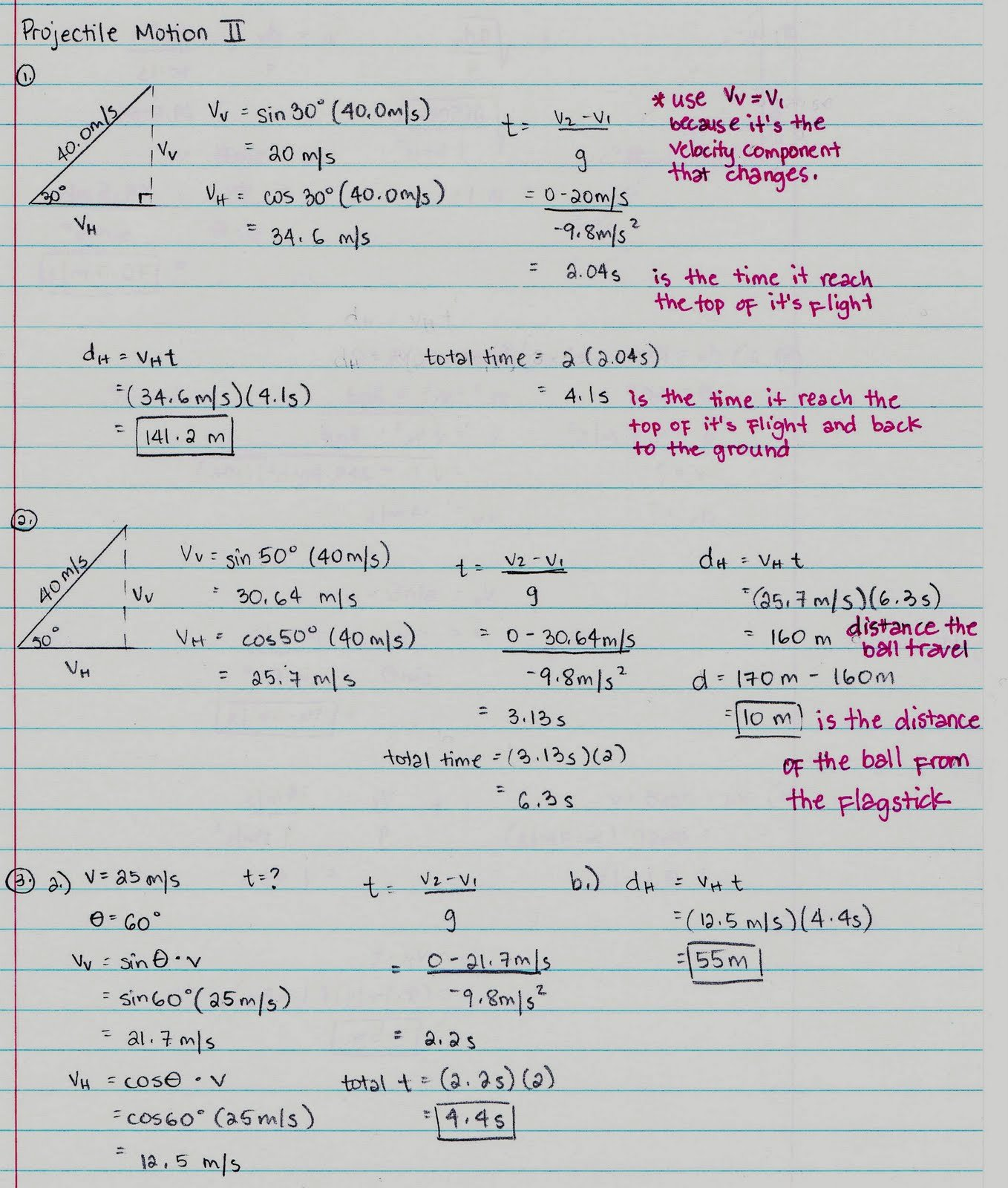 Projectile Motion Worksheet with Answers Best Of Physics1202 2010 Projectile Motion Continued