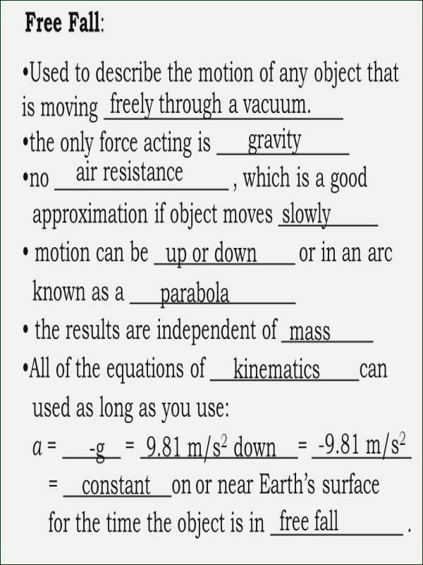 Projectile Motion Worksheet with Answers Best Of Projectile Motion Worksheet Answers