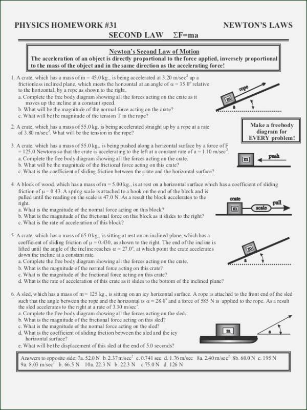 50 Projectile Motion Worksheet with Answers   Chessmuseum ...