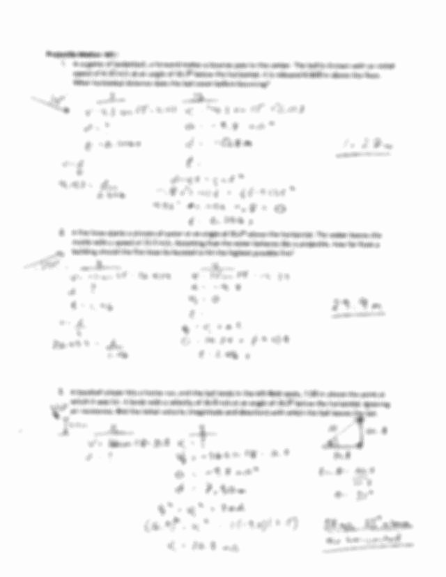 Projectile Motion Worksheet with Answers Lovely Projectile Motion Worksheet