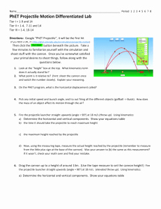 Projectile Motion Worksheet with Answers Luxury Phet Projectile Motion