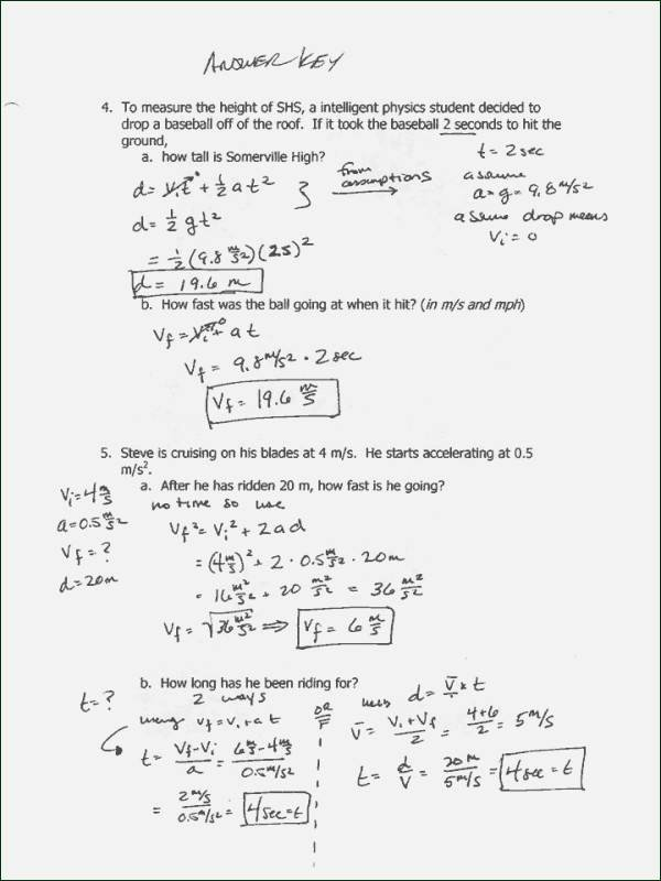 Projectile Motion Worksheet with Answers Luxury Projectile Motion Worksheet Answers