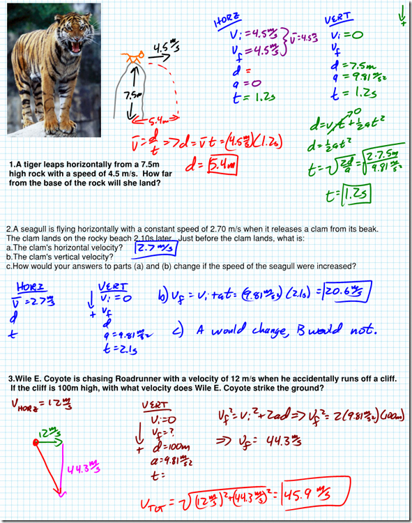 Projectile Motion Worksheet with Answers Unique Horizontal Projectile Worksheet Answers Regents Physics