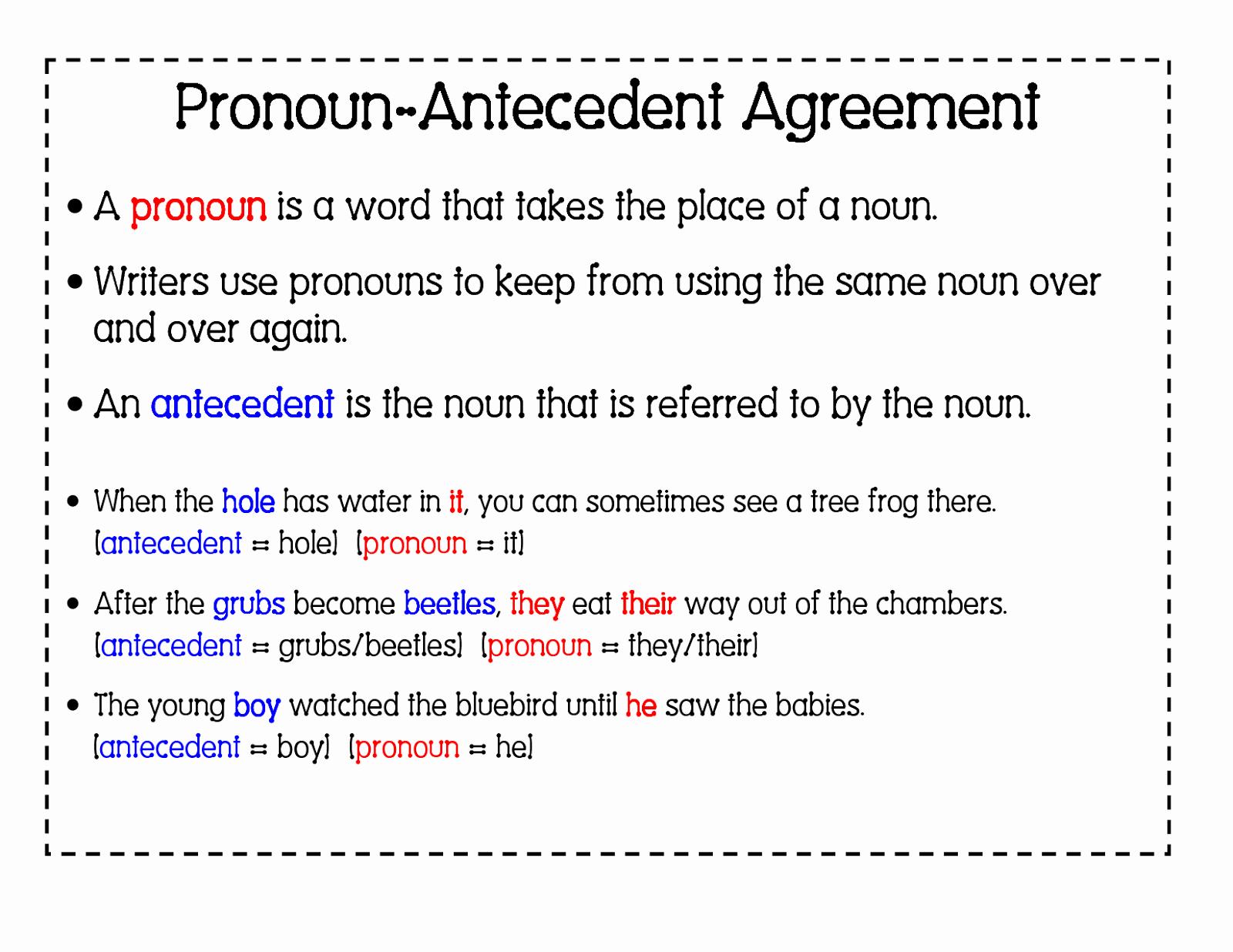 Pronoun Antecedent Agreement Worksheet Beautiful 6th Grade English with Mr T Pronoun Antecedent Agreement