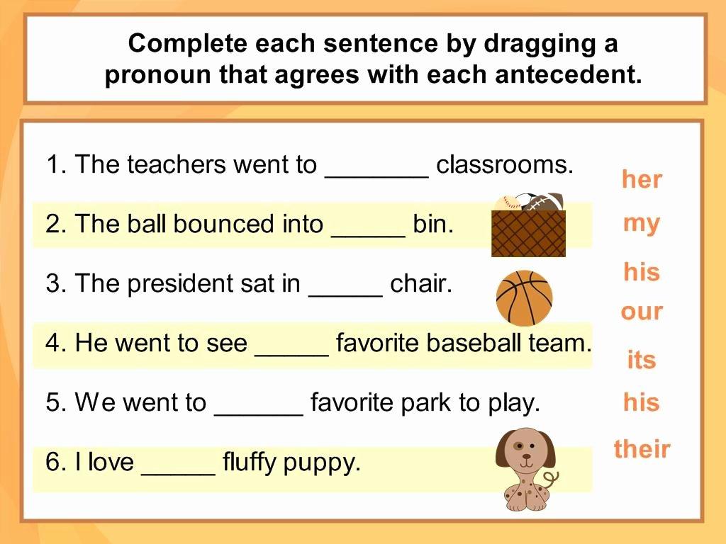 Pronoun Antecedent Agreement Worksheet Beautiful Pronoun Antecedent Agreement Digicore