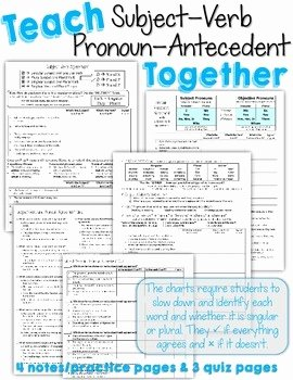 Pronoun Antecedent Agreement Worksheet Best Of Teach Subject Verb and Pronoun Antecedent Agreement