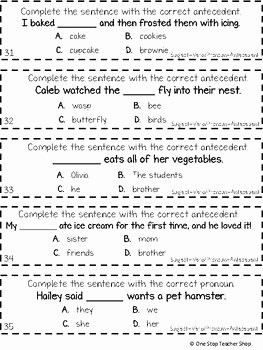 Pronoun Verb Agreement Worksheet Elegant 3rd Grade Subject Verb Agreement and Pronoun Antecedent