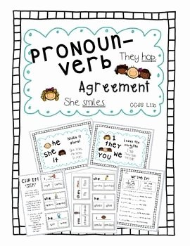 Pronoun Verb Agreement Worksheet Lovely Pronoun Verb Agreement Pack Tpt