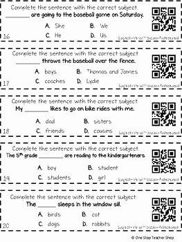 Pronoun Verb Agreement Worksheet Luxury 3rd Grade Subject Verb Agreement and Pronoun Antecedent