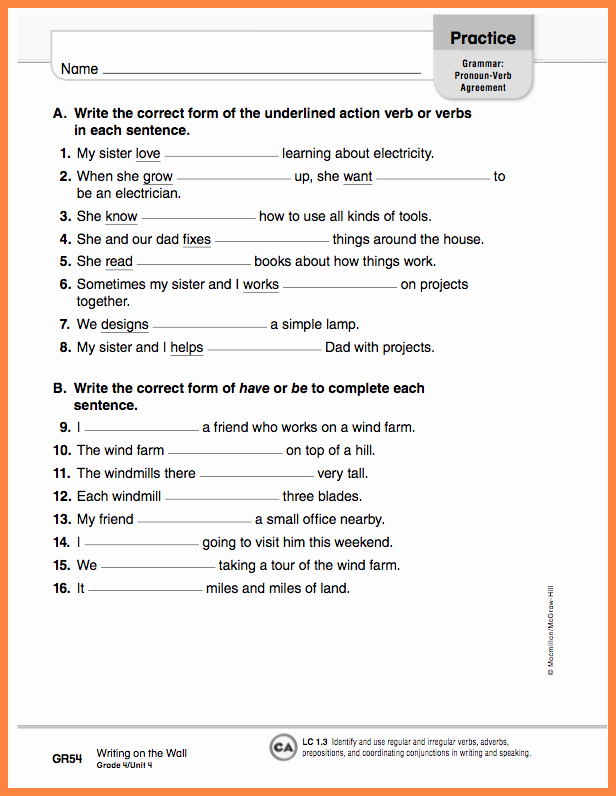 Pronoun Verb Agreement Worksheet New Pronoun Antecedent Agreement Quiz