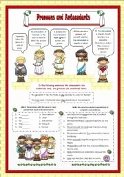 Pronouns and Antecedents Worksheet New English Worksheets Pronouns and Antecedents