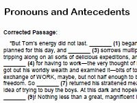 Pronouns and Antecedents Worksheet New Home School Printables Index