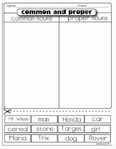 Proper Nouns Worksheet 2nd Grade Best Of Freebie Mon & Proper Noun sort I Ve Found that Anytime