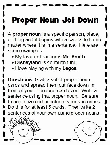 Proper Nouns Worksheet 2nd Grade Best Of I Love 2 Teach I Strongly Dislike Worksheets