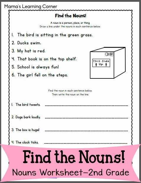 Proper Nouns Worksheet 2nd Grade Elegant Find the Nouns Worksheet for 2nd Grade Mamas Learning