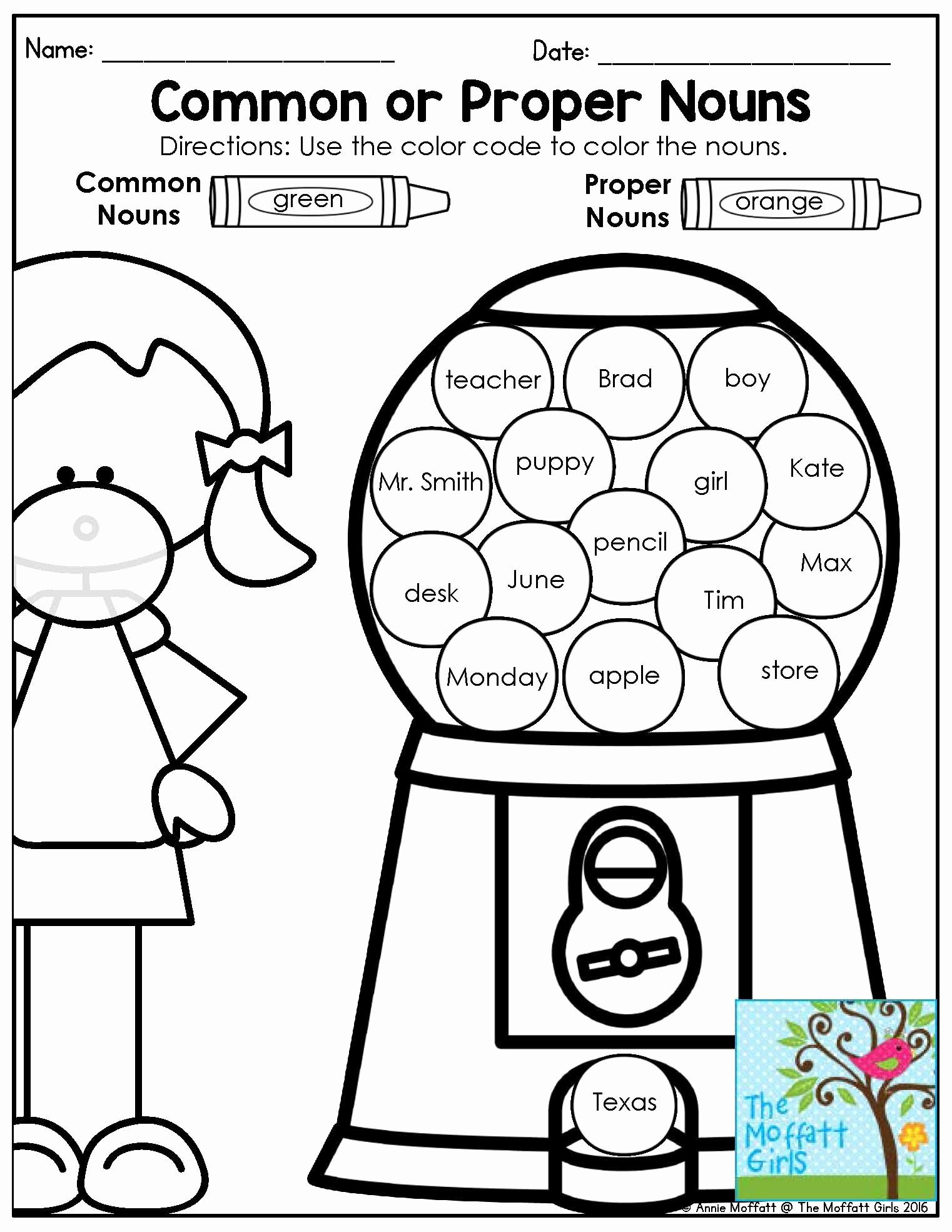 Proper Nouns Worksheet 2nd Grade Fresh Mastering Grammar and Language Arts