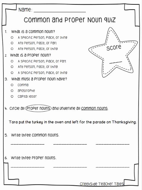 Proper Nouns Worksheet 2nd Grade Inspirational Mon & Proper Noun Freebie Education