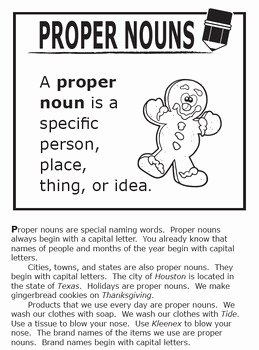 Proper Nouns Worksheet 2nd Grade Luxury Proper Nouns Activities – 2nd Grade Grammar Practice