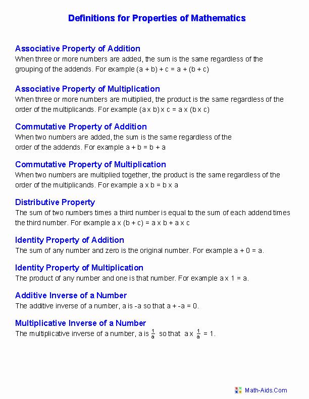 Properties Of Equality Worksheet Best Of Properties Worksheets