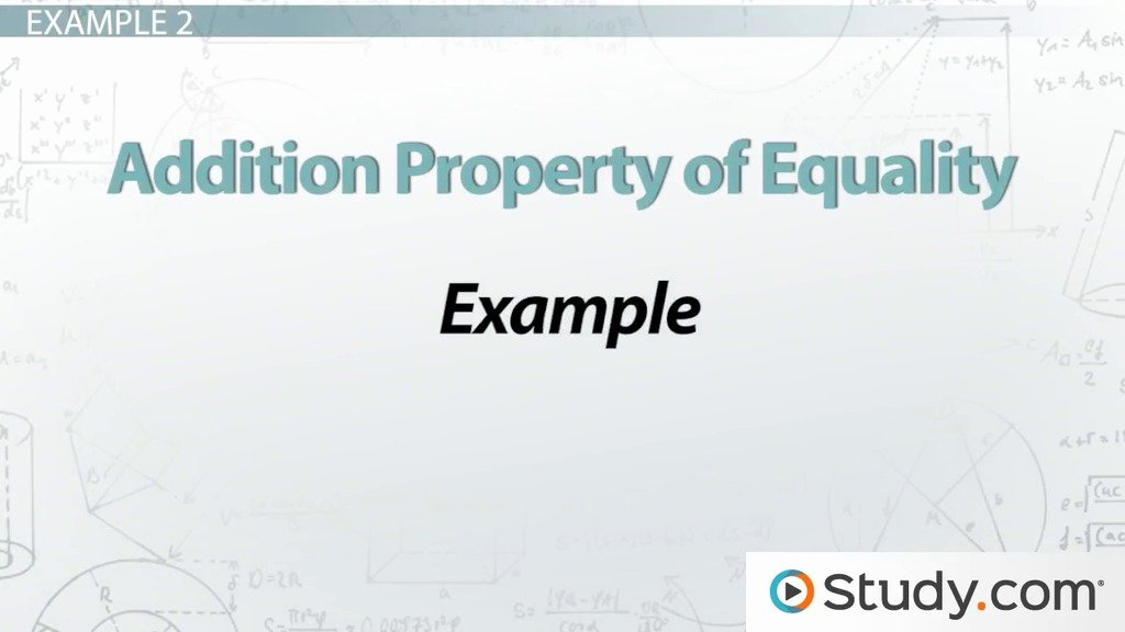 Properties Of Equality Worksheet Elegant Addition Property Of Equality Definition & Example