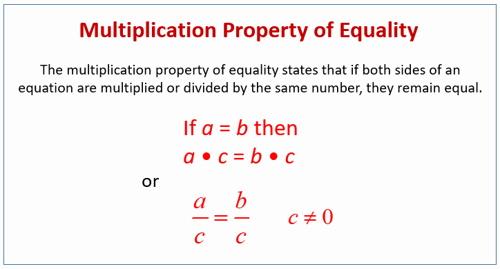 Properties Of Equality Worksheet New Multiplication Property Of Equality Examples Videos