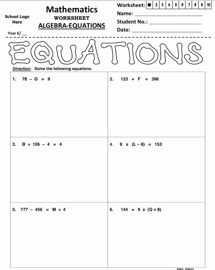 Properties Of Equality Worksheet Unique Pin by Jinky Dabon On Handouts and Worksheets