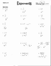Properties Of Exponents Worksheet Answers Fresh Properties Of Rational Exponents Homework Answer Key
