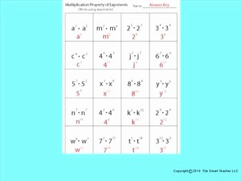 Properties Of Exponents Worksheet Answers Lovely Multiplication Property Of Exponents Worksheet
