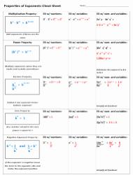 Properties Of Exponents Worksheet Fresh Properties Of Exponents Worksheet with Answer Key Download