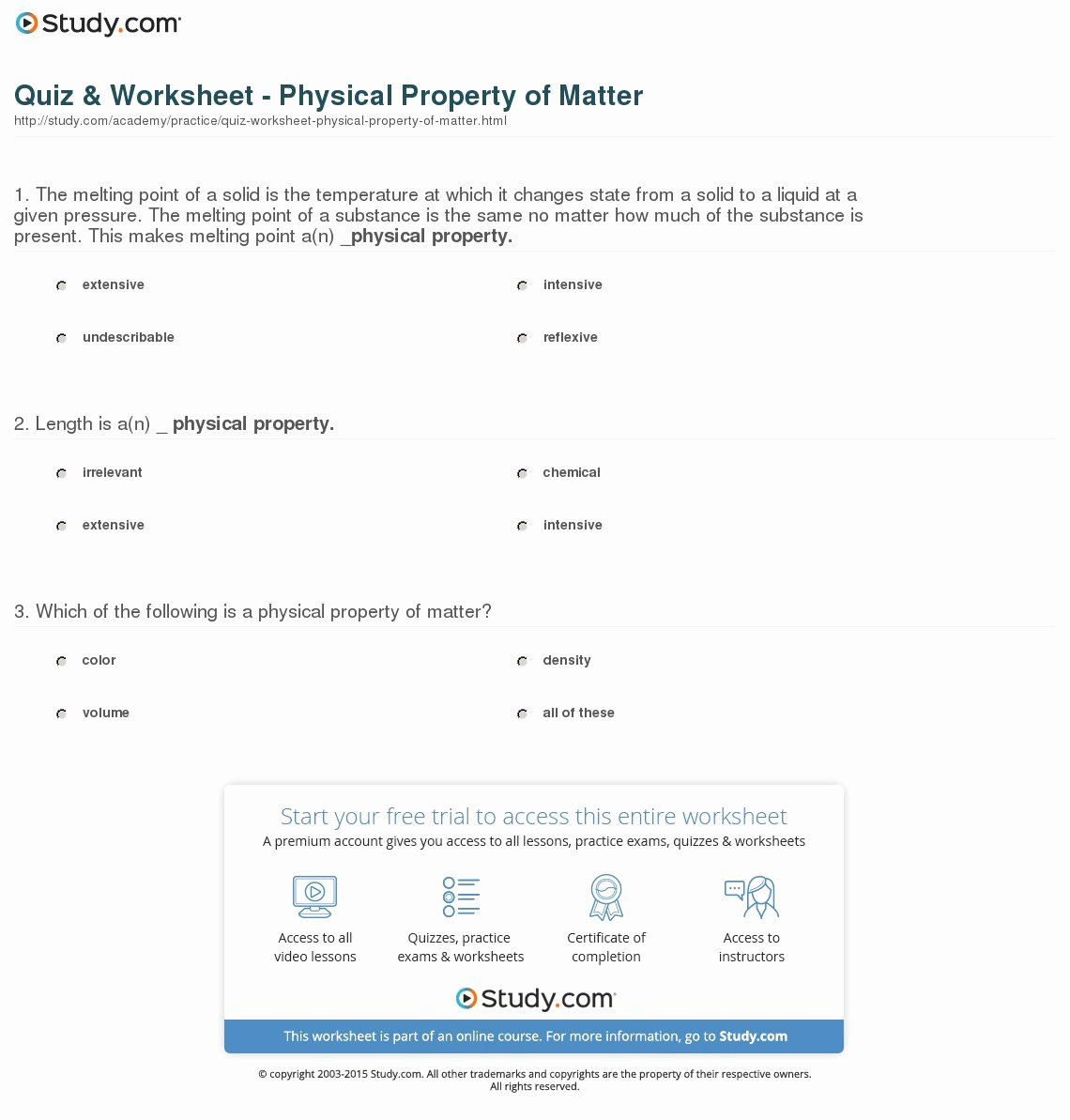 Properties Of Matter Worksheet Beautiful Properties Matter Worksheet Wendelina