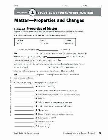 Properties Of Matter Worksheet Pdf Elegant Matter Worksheets Pdf – Devopscr