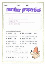 Properties Of Numbers Worksheet Elegant English Worksheets Number Properties