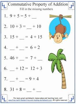 Properties Of Numbers Worksheet Elegant Mutative Property Of Addition Definition & Worksheets