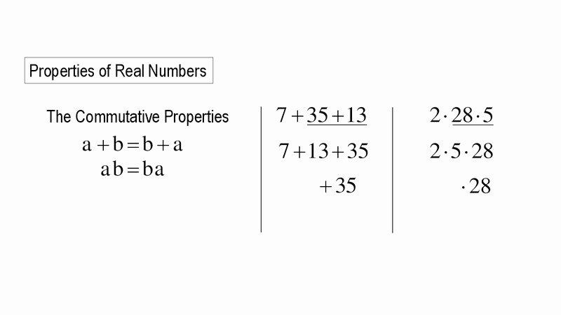 Properties Of Numbers Worksheet Elegant Properties Of Real Numbers Worksheet for 5th 9th Grade